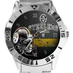 NFL Pittsburgh Steelers Watch Stainless Steel Band